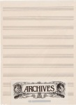 Manuscript Pad (12 stave, 50 sheets) . Archives