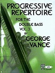 Progressive Repertoire for the Double Bass v.3 (piano accompaniment) . Double Bass . Various