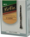 LAVOZCL Bb Clarinet Reeds (box of 10) . La Voz