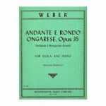 Andante and Hungarian Rondo Op.35 . Viola and Piano . Weber