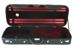 "CA1814-BLK ""Tempo"" Classic Viola Case (15-16.5"") w/Black and Red interior . Eastman"