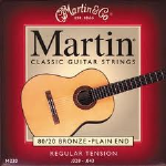 M220 Classical Guitar String Set (regular tension, plain end) . Martin