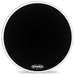 "BD24MX1B MX1 Black Bass Drum Head (24"") . Evans"