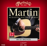 M190 12-String Acoustic Guitar Strings (80/20, light) . Martin