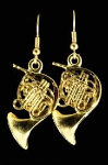 FPE558G French Horn Earrings (gold) . Harmony