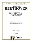 Symphony No.9 (the choral symphony, last movement) . Choral Score . Beethoven