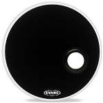 "BD22REMAD Resonant Black Bass Drum Head (22"") . Evans"
