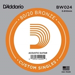 D'Addario BW024 Bronze Wound Acoustic Guitar String
