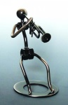 461157 Metal Trumpet Player Sculpture . Music Treasures