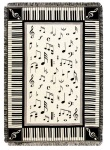 410309 Melody Tapestry Throw . Music Treasures