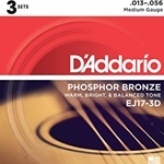 EJ17 Guitar Strings (phosphore bronze, medium) . D'Addario