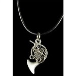 FPN558PW French Horn Necklace (pewter) . Harmony