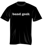 100274_M Band Geek T-Shirt (black/grey, medium) . Music Treasures