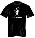 100378_M Take A Stand T-Shirt (black, medium) . Music Treasures
