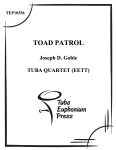 Toad Patrol . Tuba Quartet . Goble