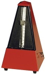 855201 Wooden Metromome w/Bell (dark red) . Wittner