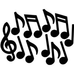 316064 Black Music Note Stickers . Music Treasures