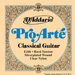 EJ46 Pro Arte Classical Guitar Strings (silverplated wound, clear nylon, hard) . D'Addario