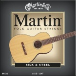 M130 Folk Guitar Strings (silk & steel) . Martin
