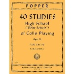 Studies (40) High School of Cello Playing op.73 . Cello . Popper