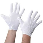 G1100L White Gloves (large) . Us Band