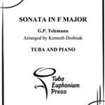 Sonata in F Major . Tuba and Piano . Telamann