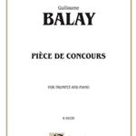 Piece De Concours . Trumpet and Piano . Balay