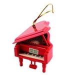 "39100 Grand Piano Ornament (red, 3.5"") . Aim"