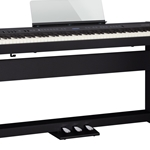 FP-60-BKC Digital Piano w/Stand and Pedal Board (88 weighted key . Roland
