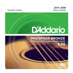 EJ18 Acoustic Guitar String Set (heavy gauge, phosphor bronze) . D'Addario
