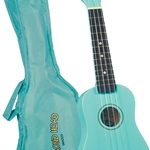 DU-116 Maple Sopano Ukulele w/Bag (turqoise) . Diamond Head