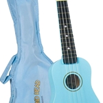 DU-106 Maple Sopano Ukulele w/Bag (light blue) . Diamond Head