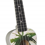 DU-132 Maple Soprano Ukulele (palm tree) . Diamond Head.
