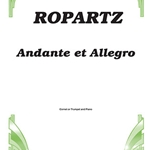 Andante and Allegro . Trumpet and Piano . Ropartz