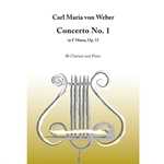 Concerto No.1 in F Minor Op.73 . Clarinet and Piano . Von Weber