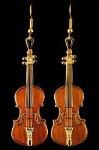 Harmony FPE543GM Stradivarius Violin Earrings (mahogany)