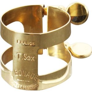 2255UG Tenor Sax Inverted Gold Ligature . Bonade