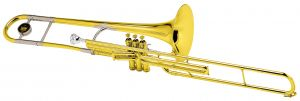 "2166 ""3B""  Valve Trombone Outfit . King"