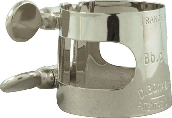 2255U Tenor Saxophone Ligature (inverted,nickel) . Bonade