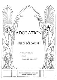 Adaoration . Violin and Piano . Borowski