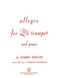 Allegro . Trumpet and Piano . Fiocco