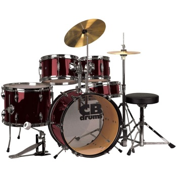 JRX55-PKWR Junior Drum Set (5 piece, wine red) . CB