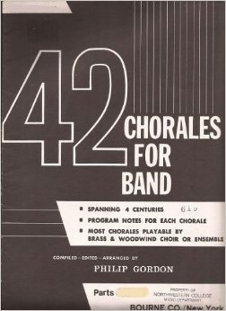 42 Chorales for Band . Tenor Saxophone . Various
