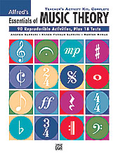 Alfred's Essentials of Music Theory (complete teacher's activity kit) . Various