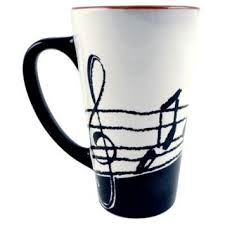 56109 Music Notes Latte Mug . Aim