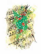 310364 Holiday Score Christmas Cards (8 pack) . Music Treasures