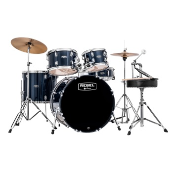 Mapex USA RB5044TCYB Rebel Jazz Drum Set (5 piece, royal blue) . Mapex