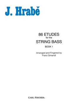 86 Etudes for the String Bass (Book 1) . String Bass . Hrabe
