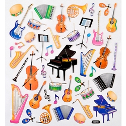 A29548 Piano/Musical Instruments Stickers . Aim