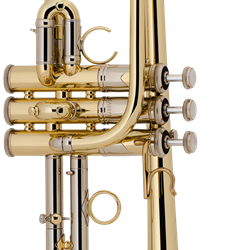 ADE190 Stradivarius Artisan D/Eb Trumpet Outfit (lacquer) . Bach